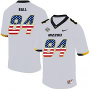 Wholesale Cheap Missouri Tigers 84 Emanuel Hall White USA Flag Nike College Football Jersey