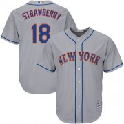 Wholesale Cheap Mets #18 Darryl Strawberry Grey Cool Base Stitched Youth MLB Jersey