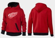 Wholesale Cheap Detroit Red Wings Pullover Hoodie Red & Black