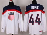 Wholesale Cheap 2014 Olympic Team USA #44 Brooks Orpik White Stitched NHL Jersey