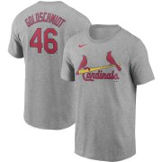 Wholesale Cheap St. Louis Cardinals #46 Paul Goldschmidt Nike Name & Number T-Shirt Gray