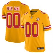 Wholesale Cheap Nike Kansas City Chiefs Customized Gold Men's Stitched NFL Limited Inverted Legend Jersey