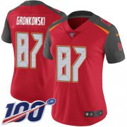 Wholesale Cheap Nike Buccaneers #87 Rob Gronkowski Red Team Color Women's Stitched NFL 100th Season Vapor Untouchable Limited Jersey