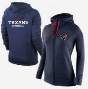 Wholesale Cheap Women's Nike Houston Texans Full-Zip Performance Hoodie Dark Blue