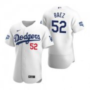 Wholesale Cheap Los Angeles Dodgers #52 Pedro Baez White 2020 World Series Champions Jersey