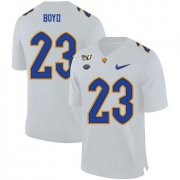 Wholesale Cheap Pittsburgh Panthers 23 Tyler Boyd White 150th Anniversary Patch Nike College Football Jersey