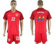 Wholesale Cheap USA #22 Rimando Red Rainbow Soccer Country Jersey