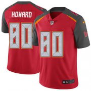 Wholesale Cheap Nike Buccaneers #80 O. J. Howard Red Team Color Men's Stitched NFL Vapor Untouchable Limited Jersey