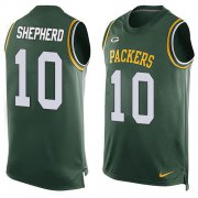 Wholesale Cheap Nike Packers #10 Darrius Shepherd Green Team Color Men's Stitched NFL Limited Tank Top Jersey