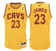 Wholesale Cheap Cleveland Cavaliers #23 LeBron James Yellow Swingman Jersey