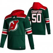 Wholesale Cheap New Jersey Devils #50 Corey Crawford Adidas Reverse Retro Pullover Hoodie Green