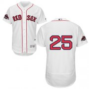 Wholesale Cheap Red Sox #25 Jackie Bradley Jr White Flexbase Authentic Collection 2018 World Series Champions Stitched MLB Jersey