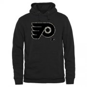 Wholesale Cheap Men's Philadelphia Flyers Black Rink Warrior Pullover Hoodie