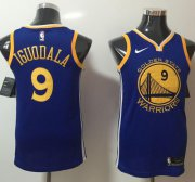 Wholesale Cheap Nike Golden State Warriors #9 Andre Iguodala Blue NBA Swingman Icon Edition Jersey