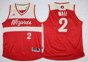 Wholesale Cheap Men's Washington Wizards #2 John Wall Revolution 30 Swingman 2015 Christmas Day Red Jersey