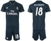 Wholesale Cheap Real Madrid #18 M.Llorente Away Soccer Club Jersey