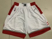 Wholesale Cheap Raptors White Nike Swingman Shorts