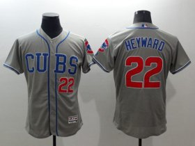 Wholesale Cheap Cubs #22 Jason Heyward Grey Flexbase Authentic Collection Alternate Road Stitched MLB Jersey