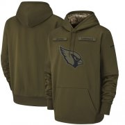 Wholesale Cheap Men's Arizona Cardinals Nike Olive Salute to Service Sideline Therma Performance Pullover Hoodie