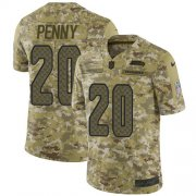 Wholesale Cheap Nike Seahawks #20 Rashaad Penny Camo Youth Stitched NFL Limited 2018 Salute to Service Jersey