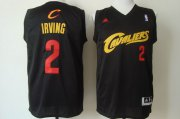 Wholesale Cheap Cleveland Cavaliers #2 Kyrie Irving 2014 Black With Red Fashion Jersey