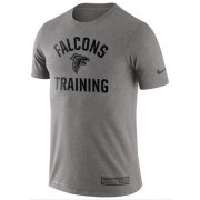 Wholesale Cheap Men's Atlanta Falcons Nike Heathered Gray Training Performance T-Shirt