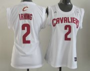 Wholesale Cheap Cleveland Cavaliers #2 Kyrie Irving White Womens Jersey