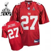 Wholesale Cheap Giants Brandon Jacobs #27 Red Super Bowl XLVI Embroidered NFL Jersey