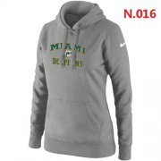Wholesale Women's Nike Miami Dolphins Heart & Soul Pullover Hoodie Light Grey
