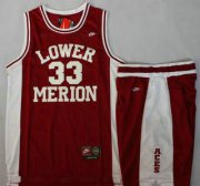 Wholesale Cheap Lower Merion #33 Kobe Bryant Red Basketball Jerseys Shorts Suits