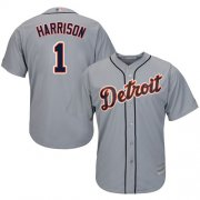 Wholesale Cheap Tigers #1 Josh Harrison Grey New Cool Base Stitched MLB Jersey