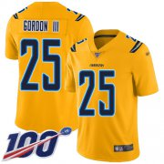 Wholesale Cheap Nike Chargers #25 Melvin Gordon III Gold Men's Stitched NFL Limited Inverted Legend 100th Season Jersey