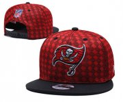 Wholesale Cheap Buccaneers Team Logo Red Black Adjustable Hat TX