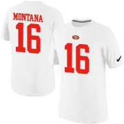 Wholesale Cheap Nike San Francisco 49ers #16 Joe Montana Pride Name & Number NFL T-Shirt White