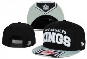 Wholesale Cheap NHL Los Angeles Kings Team Logo Black Snapback Adjustable Hat