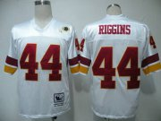 Wholesale Cheap Mitchell and Ness Redskins #44 John Riggins White Stitched Throwback NFL Jersey