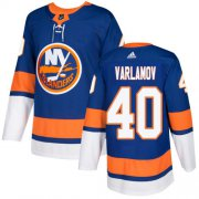 Wholesale Cheap Adidas Islanders #40 Semyon Varlamov Royal Blue Home Authentic Stitched Youth NHL Jersey