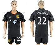 Wholesale Cheap Hull City #22 Henriksen Away Soccer Club Jersey
