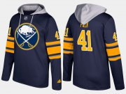 Wholesale Cheap Sabres #41 Justin Falk Blue Name And Number Hoodie