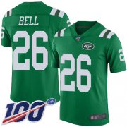 Wholesale Cheap Nike Jets #26 Le'Veon Bell Green Youth Stitched NFL Limited Rush 100th Season Jersey