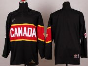 Wholesale Cheap Olympic 2014 CA. Blank Black Stitched NHL Jersey