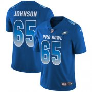 Wholesale Cheap Nike Eagles #65 Lane Johnson Royal Youth Stitched NFL Limited NFC 2018 Pro Bowl Jersey