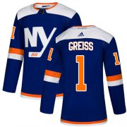 Wholesale Cheap Adidas Islanders #1 Thomas Greiss Blue Authentic Alternate Stitched NHL Jersey