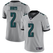 Wholesale Cheap Nike Eagles #2 Jalen Hurts Silver Youth Stitched NFL Limited Inverted Legend Jersey