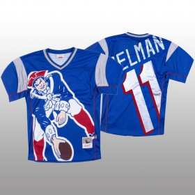 Wholesale Cheap NFL New England Patriots #11 Julian Edelman Blue Men\'s Mitchell & Nell Big Face Fashion Limited NFL Jersey