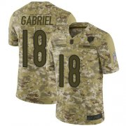Wholesale Cheap Nike Bears #18 Taylor Gabriel Camo Men's Stitched NFL Limited 2018 Salute To Service Jersey