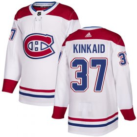 Wholesale Cheap Adidas Canadiens #37 Keith Kinkaid White Road Authentic Stitched Youth NHL Jersey