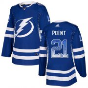 Wholesale Cheap Adidas Lightning #21 Brayden Point Blue Home Authentic Drift Fashion Stitched NHL Jersey