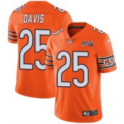 Wholesale Cheap Nike Bears #25 Mike Davis Orange Men's 100th Season Stitched NFL Limited Rush Jersey