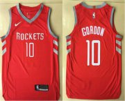 Wholesale Cheap Men's Houston Rockets #10 Eric Gordon New Red 2017-2018 Nike Authentic Printed NBA Jersey